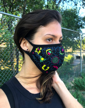 Spacetime Portals Face Mask - Meow Wolf