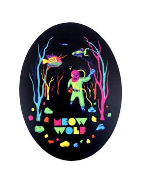 Glo-quarium Sticker - Meow Wolf